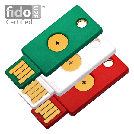 Tricolor – 3 COLOR YUBIKEYS LIMITED EDITION